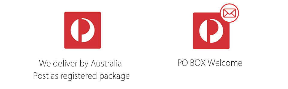 PO BOX Welcome We deliver by Australia Post as registered package