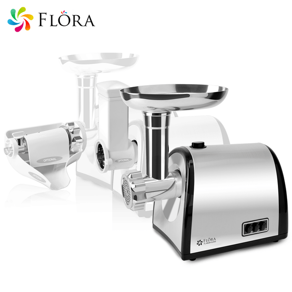 Flora Stainless Steel Electric Meat Mincer Tomato Sauce Slicer Shredder Pkg