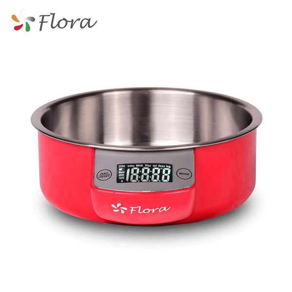 Flora Digital Kitchen Scale 5kg 11lb LCD Electronic Stainless Steel Weight