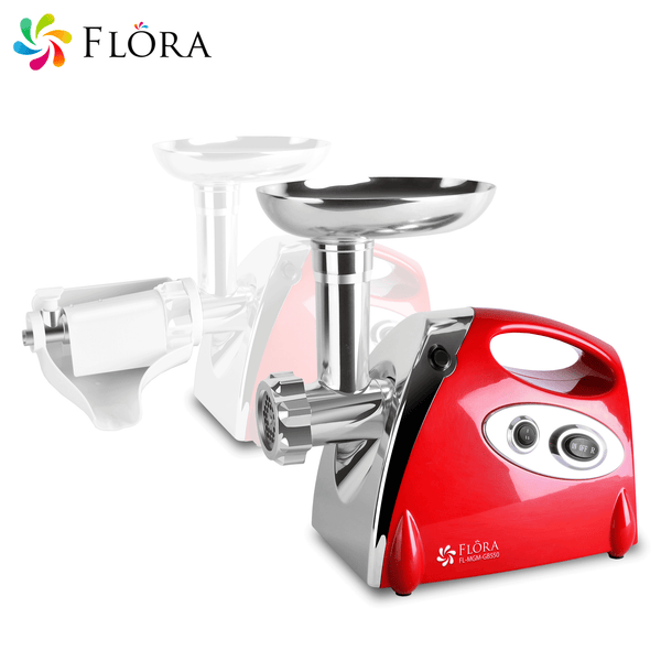 Flora Electric Mincer Meat Grinder Tomato Sauce Kit Package Stainless Steel