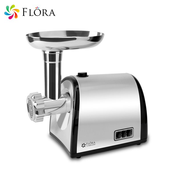 Flora Electric Stainless Steel Meat Grinder Mincer filler Kibbe Maker