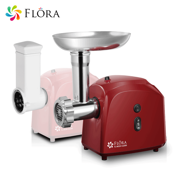 Flora Electric Meat Mincer Slicer Shredder Kit Grinder Maker Sausage Filler