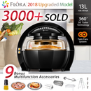 New Black 1300w 13L Multifuctional LCD Air Fryer Healthy Cooker Low Fat Oil Free