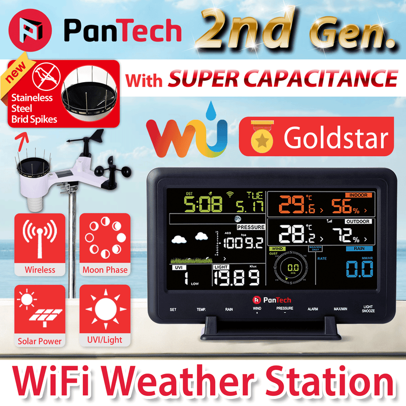 PanTech Colour LCD Wifi Wireless Weather Station PT-WH2900