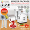 Flora White Electric Mincer Meat Grinder Tomato Sauce Kit Package