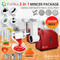 Flora Red Electric Meat Grinder Tomato Sauce Slicer Shredder sausage 2600