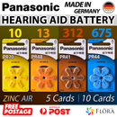 Hearing Aid Battery Panasonic size 10 13 312 675 PR70 PR48 PR41 PR44