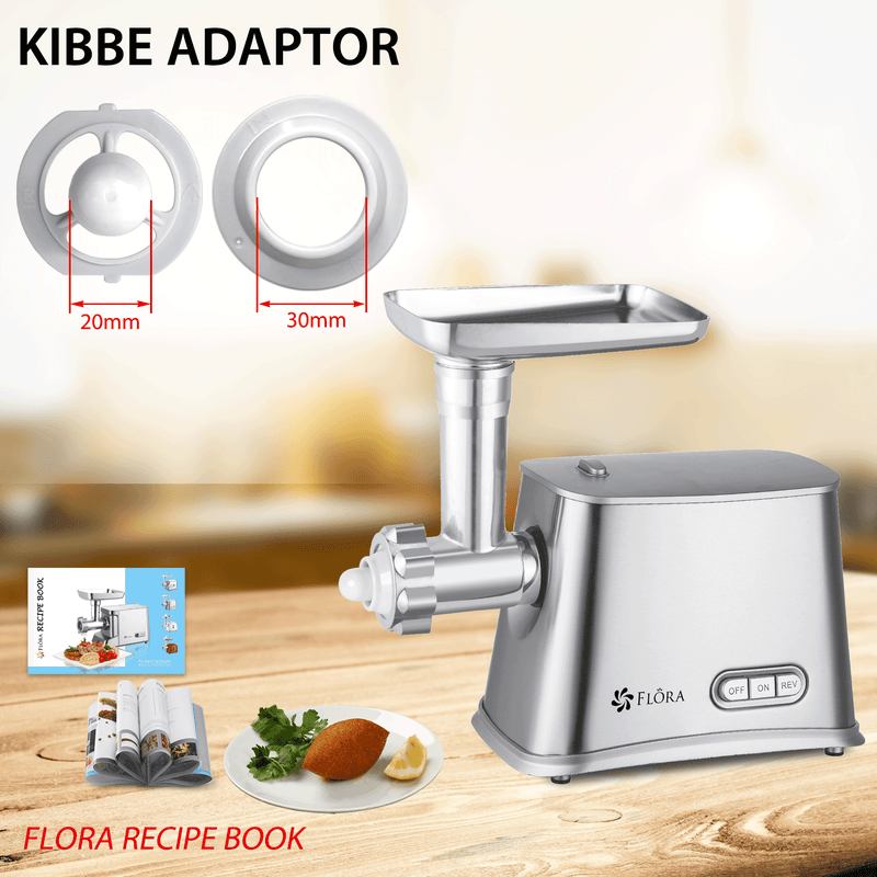 Flora Max 2800W Electric Meat Mincer Sausage Filler Stuffer Kibbe Maker Machine