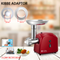 Flora Red Electric Mincer Meat Grinder Tomato Sauce Kit Package