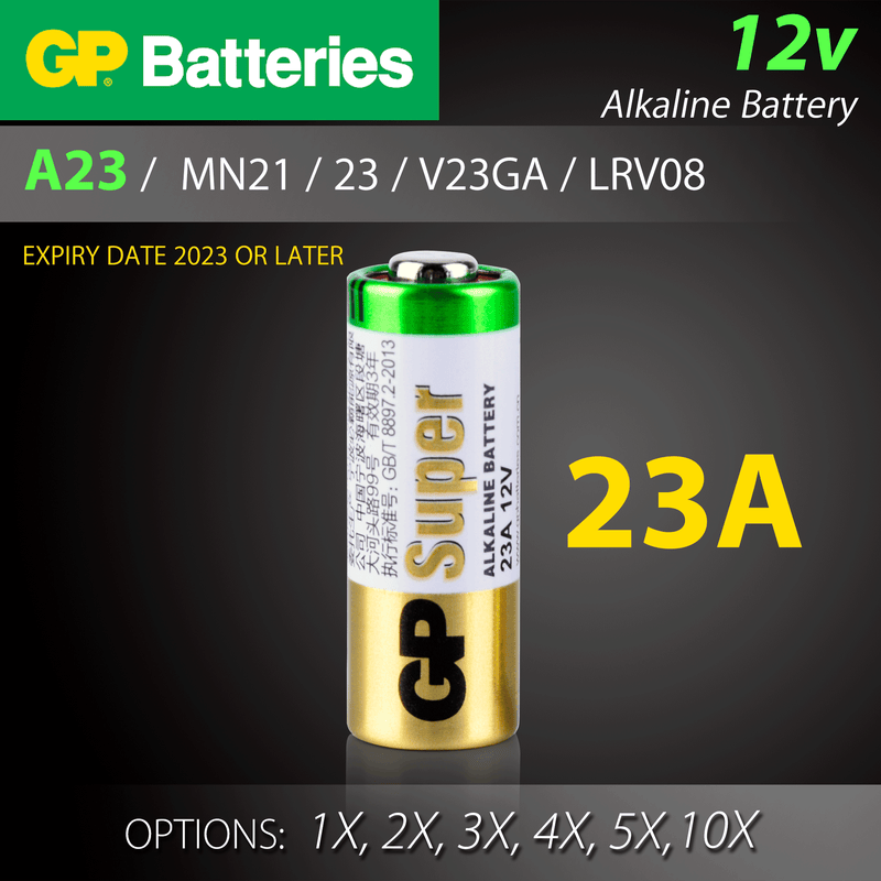 GP Batteries A23 23A A27 27A 12v Alkaline Battery 23 27 MN21 MN27 V23GA V27A