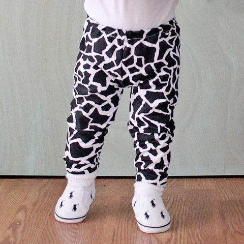 Baby Leggings in giraffe spandex by Indigo and Bear