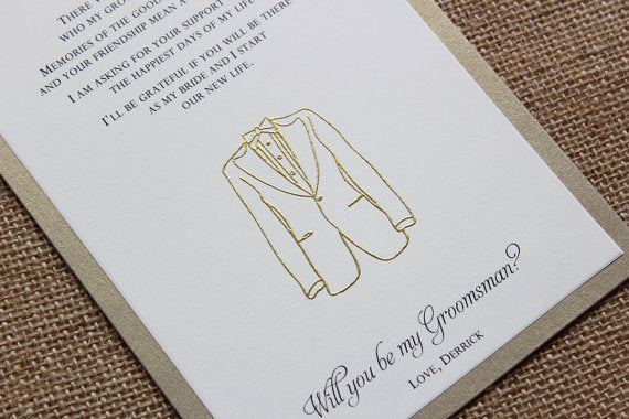will you be my groomsman ring bearer gift best man card