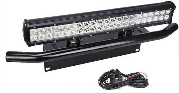 LED Lys bro / lys bar 126 watt inkl. Bull bar og Ledningssæt