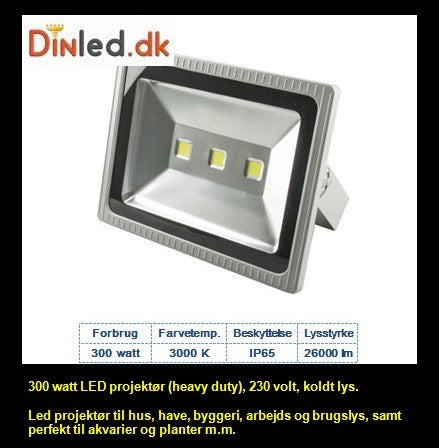 LED Standard projektør (heavy duty) 300 watt