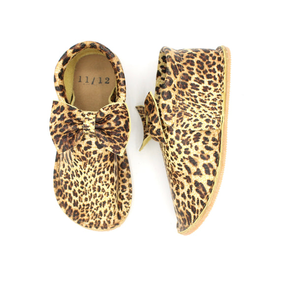 Toddler/Youth Bow Mocs - Leopard