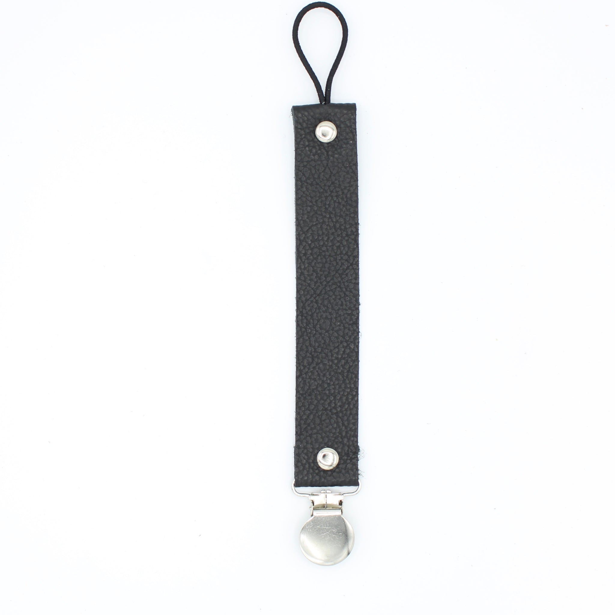 Black Soother/Pacifier Clip - Posh Panda