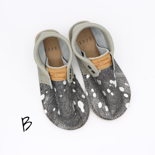 Limited Edition Hair Hide Mocs - Random YOUTH (Rubber Sole) Sizes