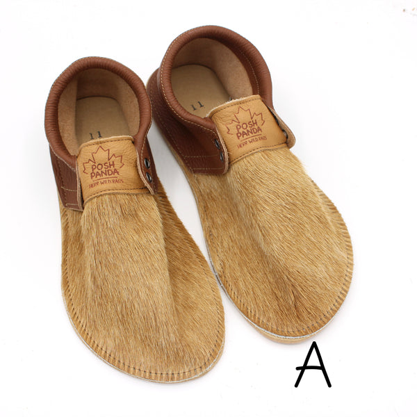 Limited Edition Hair Hide Mocs - SIZE 11