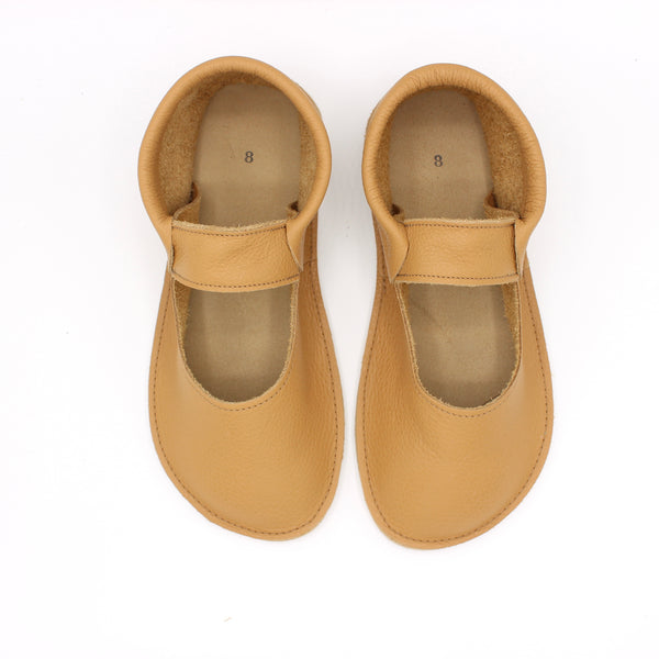 Ladies Mary Jane Mocs - Tan