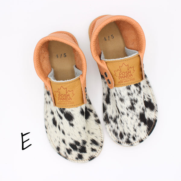Limited Edition Hair Hide Mocs - SIZE 4/5