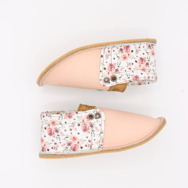 Toddler/Youth Hampton Mocs - Soft Pink/FLORAL