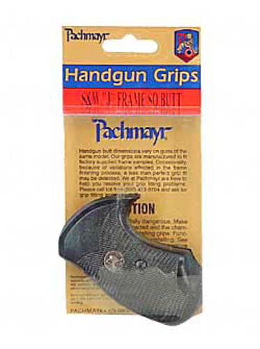 Pachmayr Compac Grip S&W J Frame Square Butt Revolver Checkered Rubber Black 032