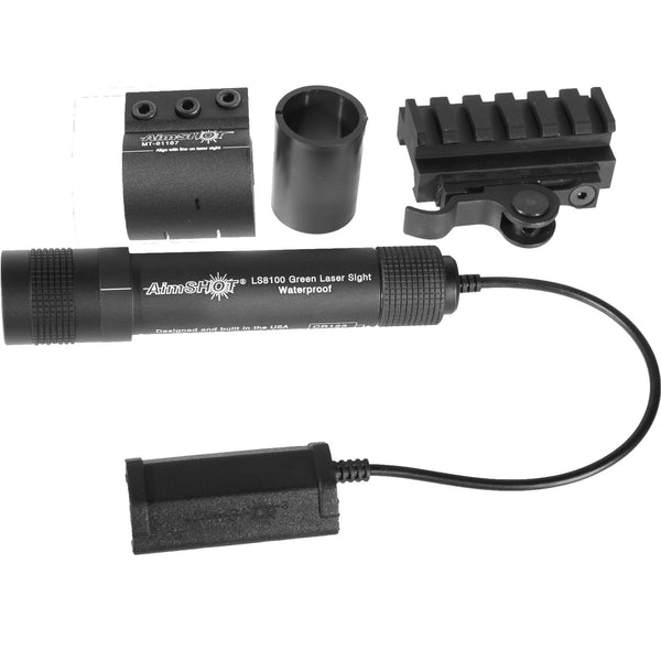 AimSHOT KT81069 Green Laser Sight Kit w/ QR Rail Mount