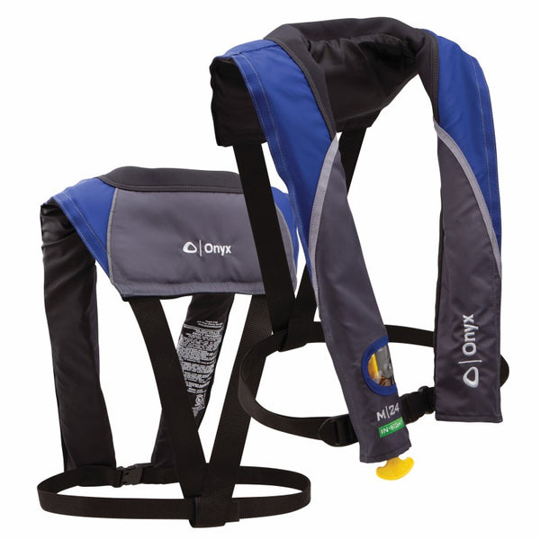 Onyx M-24 In-Sight Manual Inflatable Life Jacket Blue