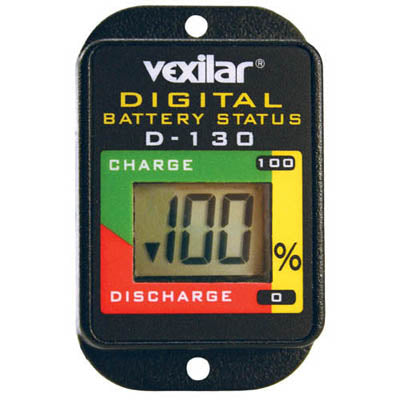 Vexilar Digital Battery Status Gauge  D-130