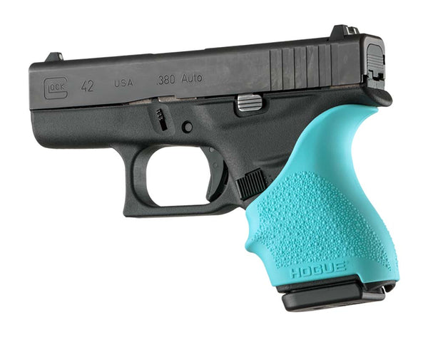 Hogue HAll Beavertail Grip Sleeve Glock 42 43 Aqua
