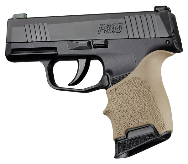 Hogue HandAll Beavertail Grip Sleeve Sig Sauer P365 Flat Dark Earth