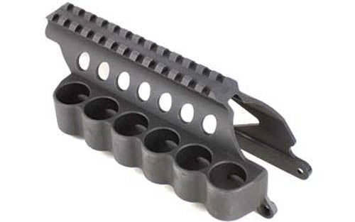 Mesa Tactical Six Round SureShell Saddle Rail for Remington 870 12 Gauge Aluminu