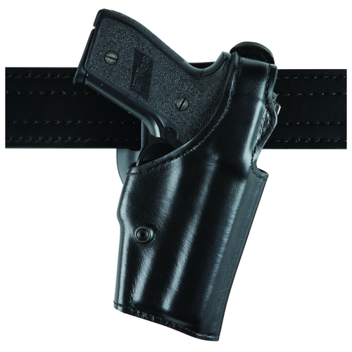 Model 200 Top Gun Lvl I Duty holster Finish: Hi-Gloss Gun Fit: Smith & Wesson 39 (4  bbl) Hand: Right Belt Size: 2.25  Option: None