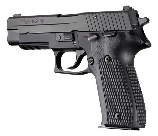 Hogue SIG Sauer P226 DA SA Piranha G10 SOLID BLACK