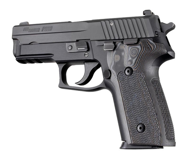 Hogue SIG Sauer P228 P229 DA SA Checkered G10 GMascus BLACKGREY