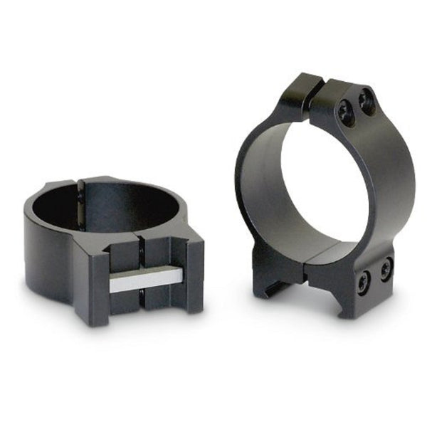 Warne 34mm Permanently Attached - Medium Matte Rings