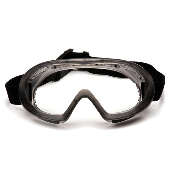 Pyramex Capstone Shield Clear AF Lens Goggle w/Clear Shield