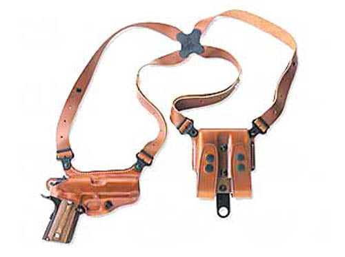 "Galco Miami Classic Shoulder Holster 1911 Right Hand 5"" Barrel Leather Tan Finis"