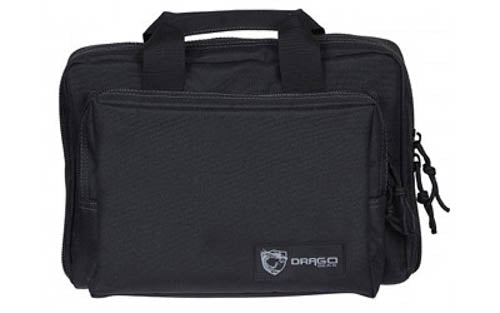 Drago Gear Heavy Duty Double Pistol Case Dual Padded Compartments Five Internal