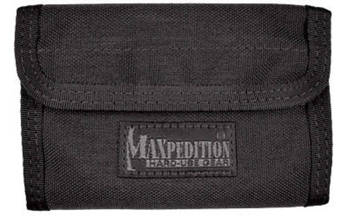 "Maxpedition Spartan Wallet 5.5""x0.5""x3.75"" 1000 Denier Black"