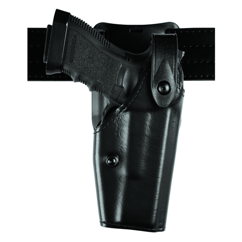 6285 Low Ride SLS Hooded Duty Holster Finish: STX Tactical Black Gun Fit: Smith & Wesson 4003TSW (4  bbl) Hand: Right