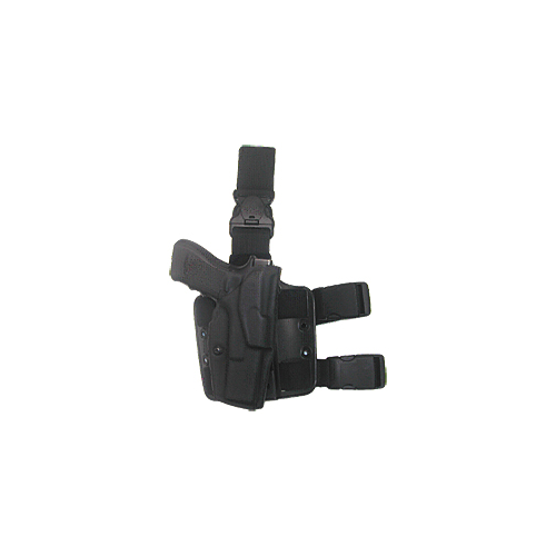 ALS Tactical Holster w/ Quick-Release Leg Strap Color: STX Tactical Black Gun Fit: Glock 19 with ITI M3 (4  bbl) Hand: Right