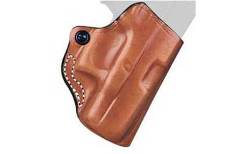 DeSantis Gunhide Mini Scabbard Belt Holster For GLOCK 43 Right Hand Leather Tan
