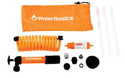 Aquamira WaterBasics Emergency Water Pump & Filter Kit,Purifies 17oz/min