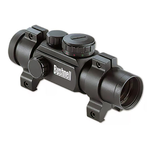 Bushnell 1x28 Black Matte Red Dot 4 Dial-in Red/Green reticles Box