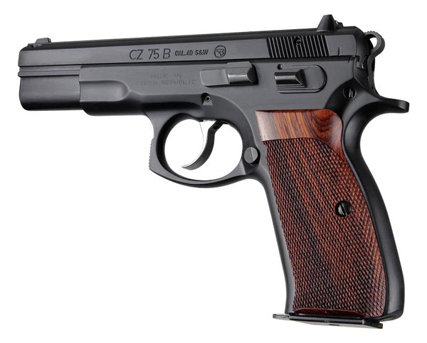 Hogue CZ75 CZ85 Cocobolo Checkered Wood Grips