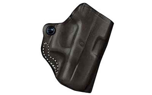 DeSantis 019 GLOCK 26, 27, 33 Mini Scabbard Belt Holster Right Hand Leather Blac