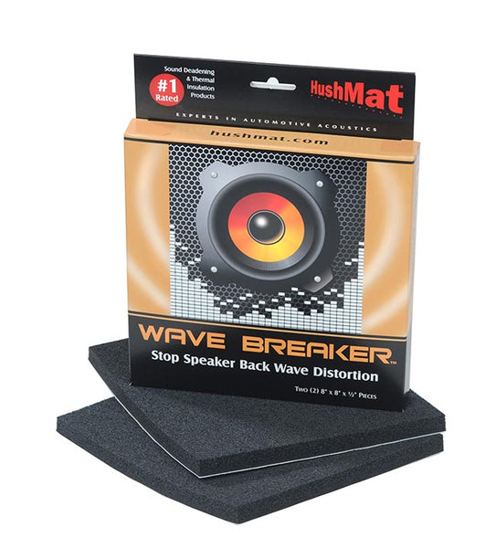 "Hushmat Wave Breaker Contains (2) 8"" x 8""  Wave Deflecting Pads"
