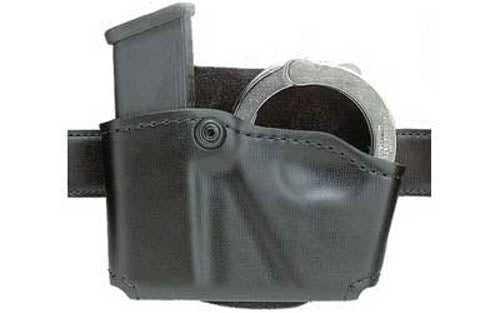 Safariland Model 573 Open Top Magazine/Handcuff Pouch Group 1 Leather Look Right