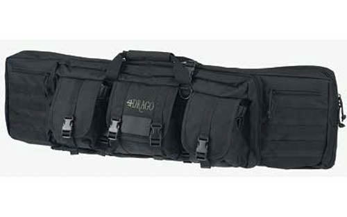 "DRAGO Gear 42"" Single Gun Case Padded Backpack Straps 600D Polyester Black 12-30"